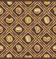 nut seamless pattern vector image vector image