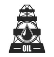 oil drilling company simbol vector image vector image