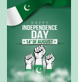 pakistan happy independence day 14th august flag