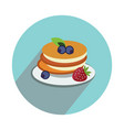 pancake with fruits on white background flat vector image
