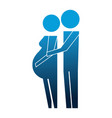 parents couple pregnancy silhouettes vector image vector image