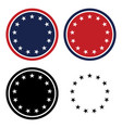 patriotic 13 stars circle set vector image vector image