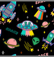 pattern on space topic vector image vector image