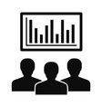 political candidate graph icon simple style vector image
