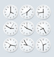 realistic detailed 3d clock set with different vector image