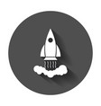 rocket pictogram icon business startup launch vector image vector image