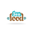 Seafood logo vector image vector image