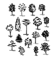 Set of hand drawn of trees Ink style vector image vector image