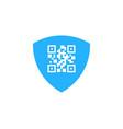 shield barcode logo icon design vector image