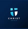 shield christ logo icon vector image