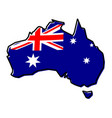 simplified map of australia outline with slightly vector image