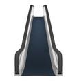 single escalator mockup realistic style vector image