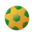 soccer ball with brazilian colors isolated on vector image vector image
