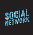 social network design with isolated essential vector image