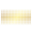 star pentacle gold halftone effect vector image vector image
