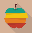 Step design of four part apple vector image