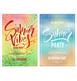 summer party posters vector image