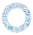 swimming set circle vector image vector image