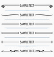 text dividers and separators set 4 vector image vector image