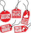 Trusted brand red tag set vector image vector image