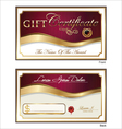 Voucher Gift certificate Coupon template vector image vector image