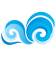wave icon on white background vector image vector image
