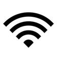 wi-fi icon wireless internet signal symbol vector image