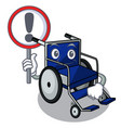 with sign wheelchair isolated with in the cartoon vector image