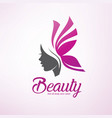 womans hair style stylized silhouette beauty vector image vector image