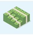 Stacked pile of cash vector image