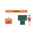 assembly flat icons male teacher vector image
