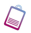 contour clipboard with check list document vector image