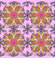 floral pattern with flowers and leaves cute vector image