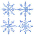 4 cross stitch snowflakes vector image vector image