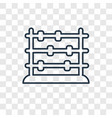 abacus toy concept linear icon isolated on vector image vector image