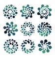 Abstract circle logotype set Green and blue vector image vector image