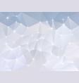 Abstract irregular polygon background snow vector image