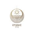 abstract sacred symbol nature logo vector image