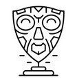 african mask icon outline style vector image