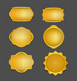 antique gold retro frame collection vector image vector image