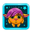 app icon with fantastic animal vector image vector image