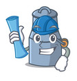 architect milk can character cartoon vector image vector image
