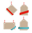 banner set of paper tag design template ima vector image vector image