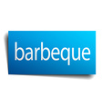 barbeque blue square isolated paper sign on white vector image vector image