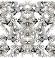 baroque black and white vintage seamless pattern vector image vector image