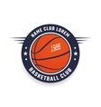 Basketball club logo vector image
