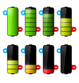 Battery Life Icon Set Isolated on White Background vector image vector image