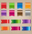 big colorful ribbon set vector image vector image