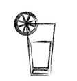blurred thick silhouette of cocktail drink with vector image vector image