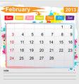 Calendar February 2013 vector image